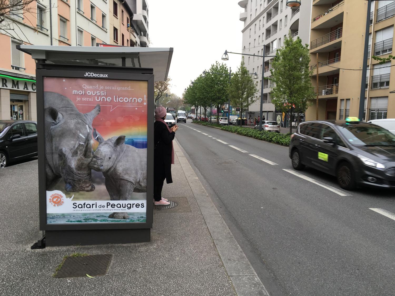 Campagne affichage pub bus