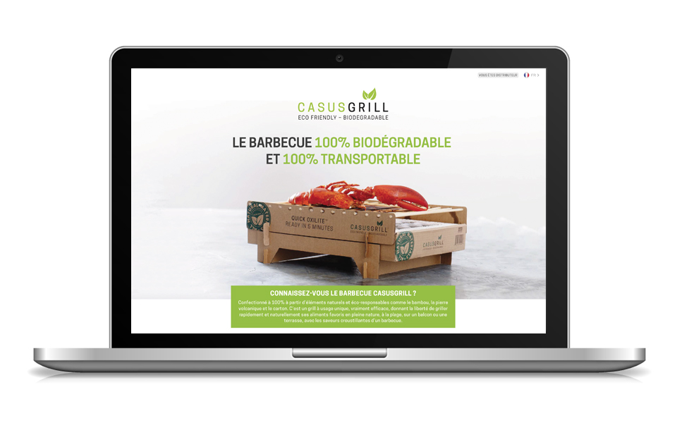 Landing page CasusGrill