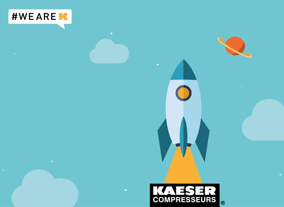 Univers campagne de communication interne Kaeser
