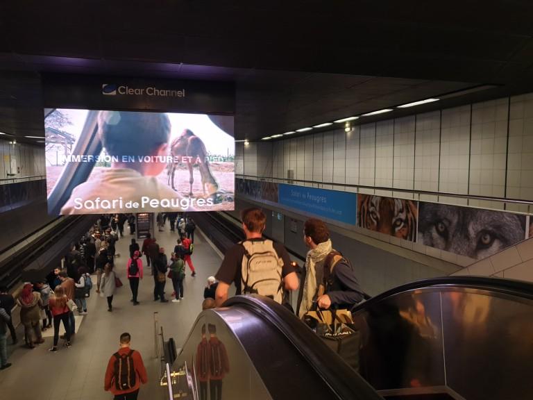 Vidéo métro campagne Safari de Peaugres