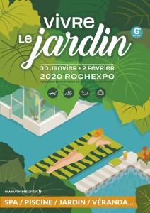 Affiche salon Vivre Le Jardin