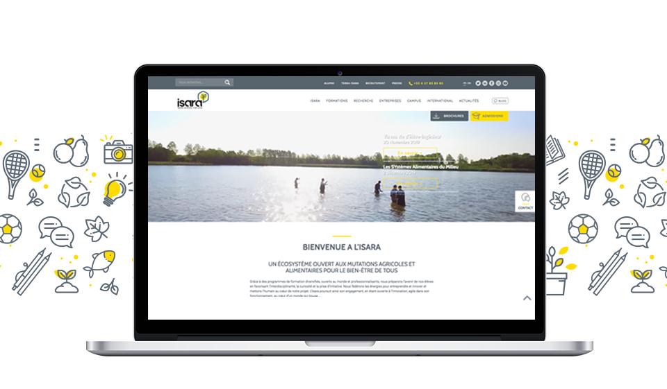 ISARA site Internet refonte
