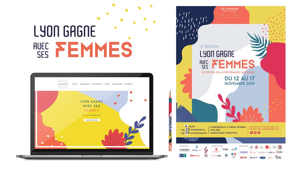 Elements communication festival Lyon Gagne avec ses femmes